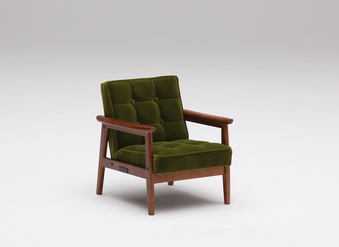 k chair mini moquette green,가리모쿠60