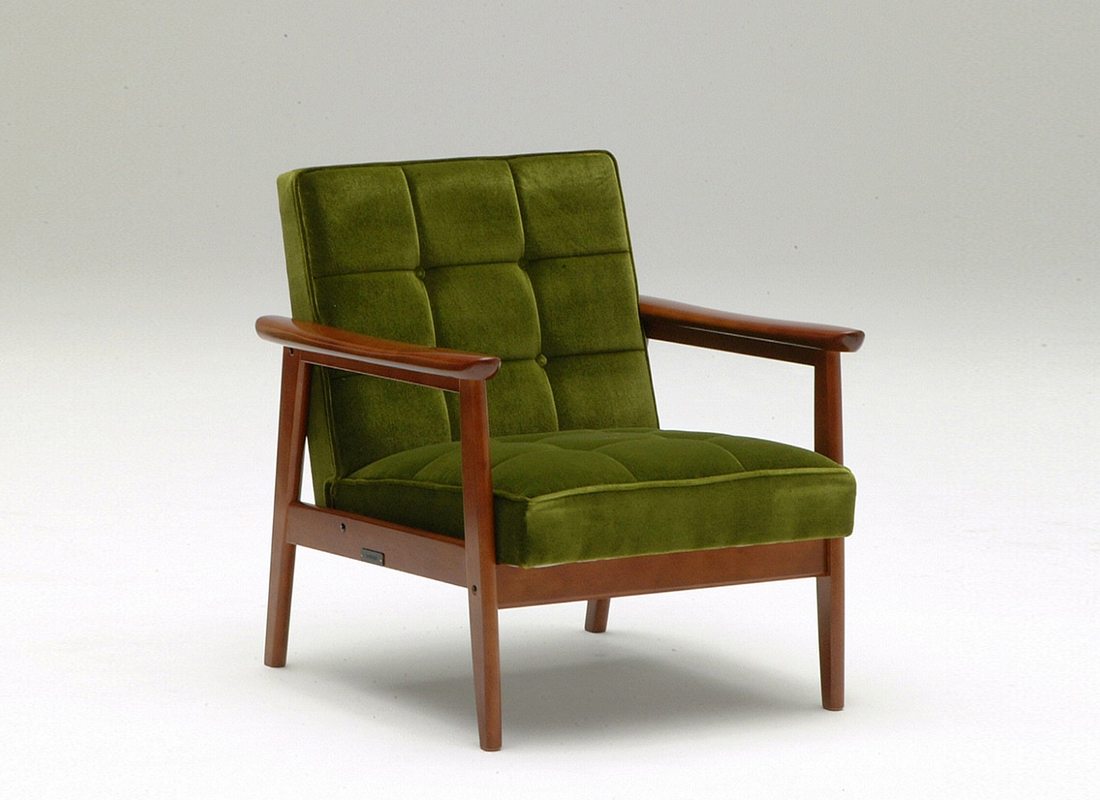 k chair one seater moquette green,가리모쿠60
