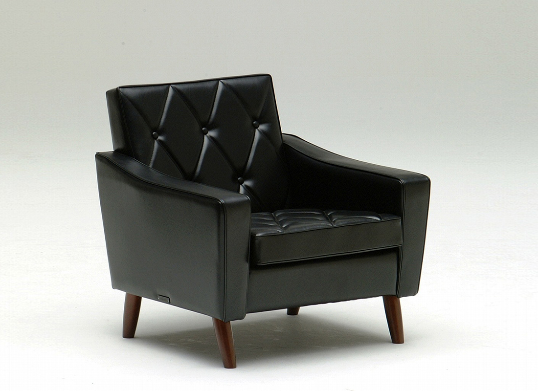 lobby chair one seater standard black,가리모쿠60