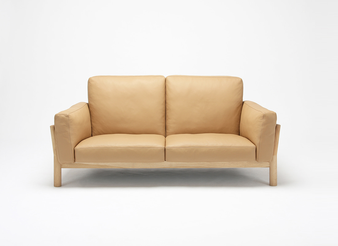 Castor sofa 2seater Leather,가리모쿠60