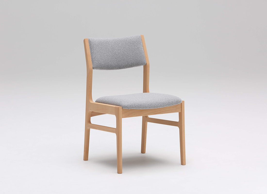 armless dining chair mist gray,가리모쿠60