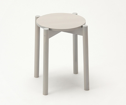 Castor stool plus Grain Gray,가리모쿠60